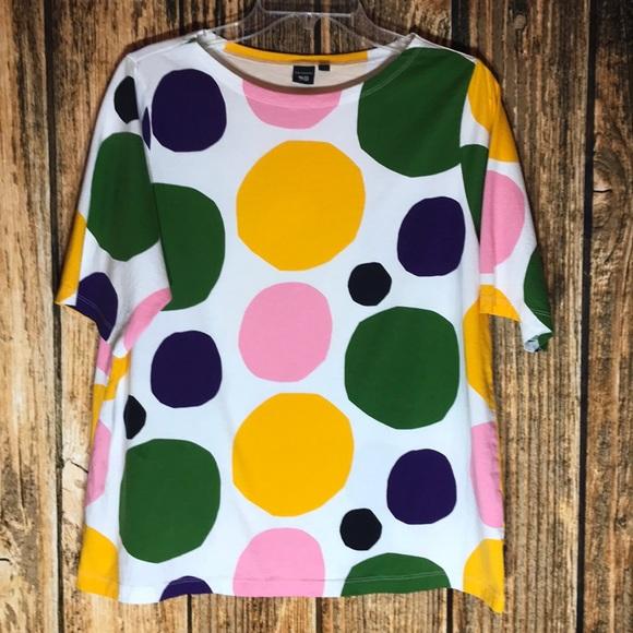 f5eab5c6e0 Marimekko Tops | Polka Dot Colorful Shirt | Poshmark